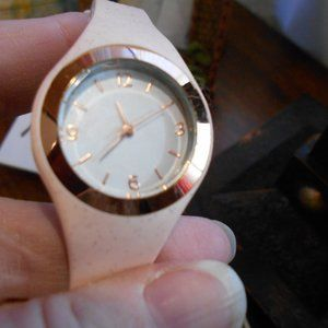 Aeropostale Soft Pink Watch Gold Accents